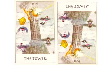 タロットカード『塔』が意味する恋愛運と仕事運【正位置/逆位置】